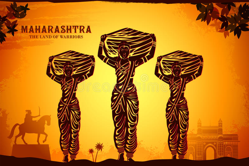 Cultura del maharashtra fotografía de archivo