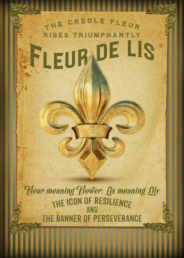 Cultura del quartiere francese Luisiana di New Orleans illustrazione di stock