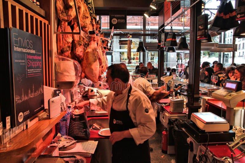 Cultura dell'alimento di Madrid immagine stock
