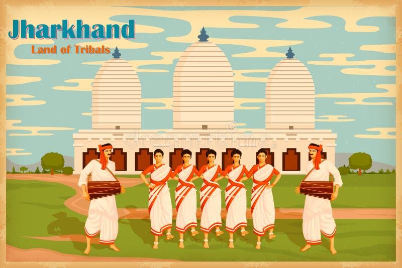 Cultura di Jharkhand royalty illustrazione gratis