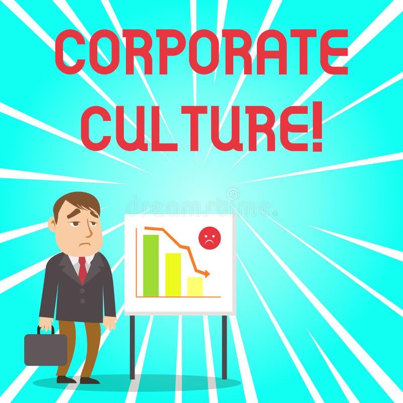 Cultura empresarial do texto da escrita Conceito que significam opiniões e atitudes que caracterizam um homem de negócios Clerk d ilustração royalty free