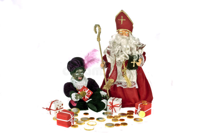 Cultura holandesa tradicional: Banquete de Papá Noel foto de archivo