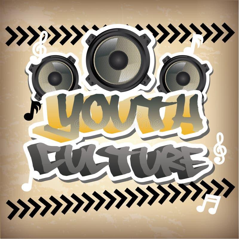 Cultura joven libre illustration