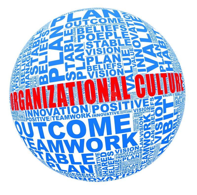 Cultura organizacional na colagem da palavra ilustração royalty free
