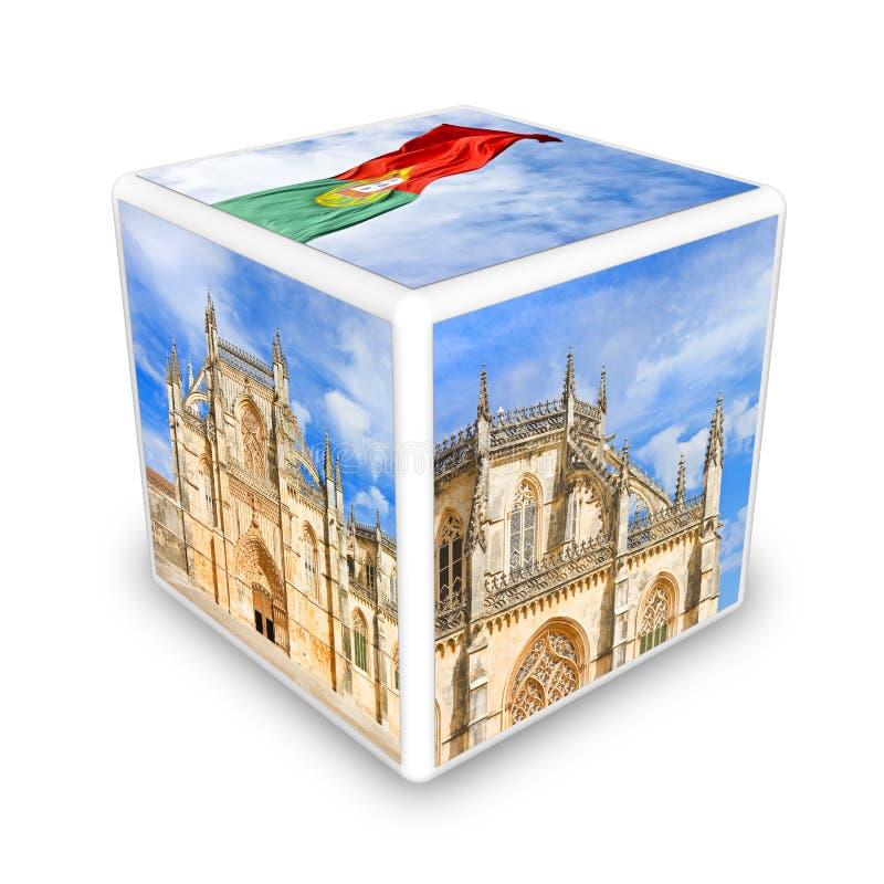 Cultura portuguesa Portugal - Europa - cube o ima dado forma do conceito ilustração do vetor