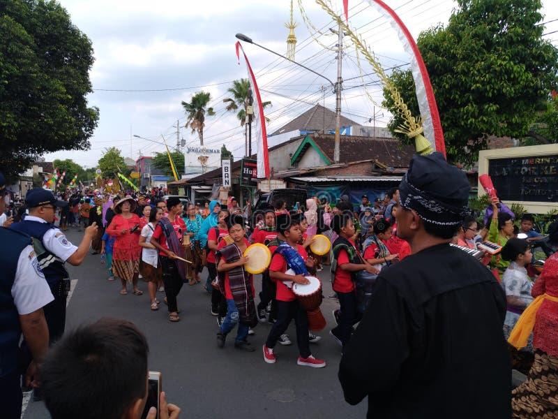 Cultura sola di carnevale del batik fotografia stock