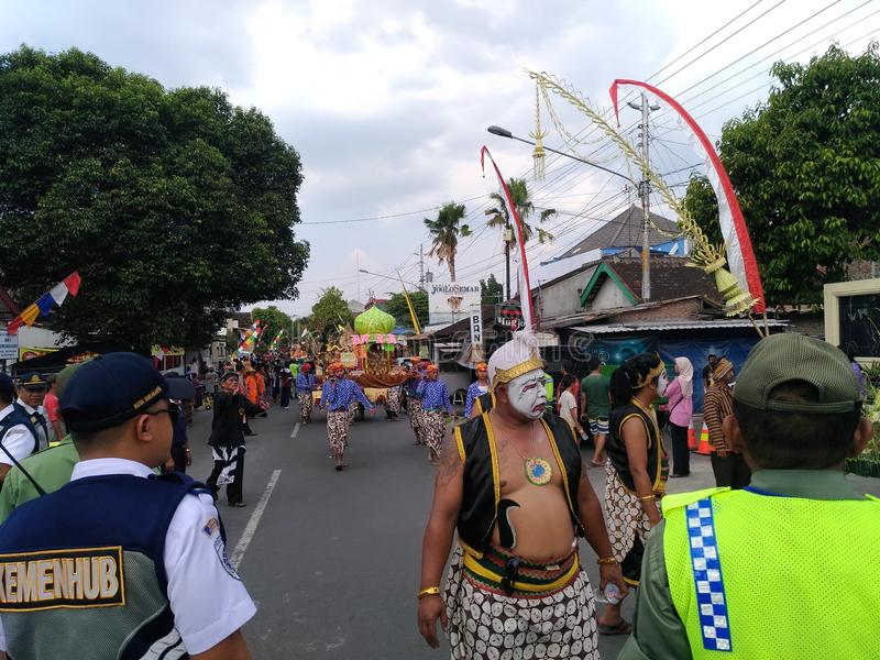 Cultura sola di carnevale del batik fotografie stock