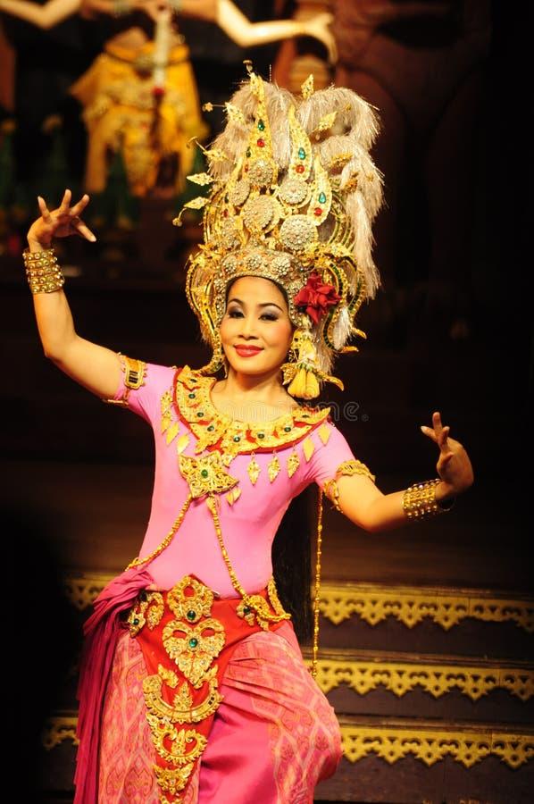 Cultura tailandesa da dança foto de stock