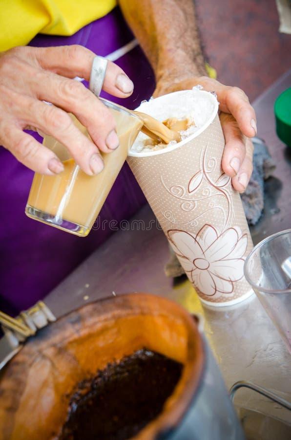A cultura tradicional do café em 3Sudeste Asiático foto de stock