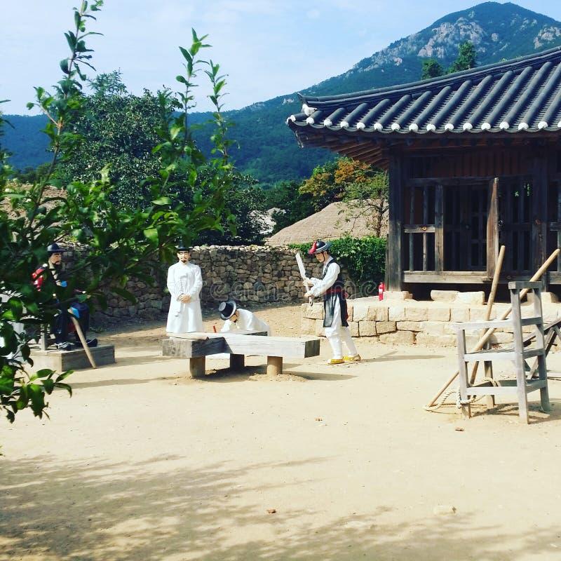 Cultura tradicional em Coreia do Sul foto de stock