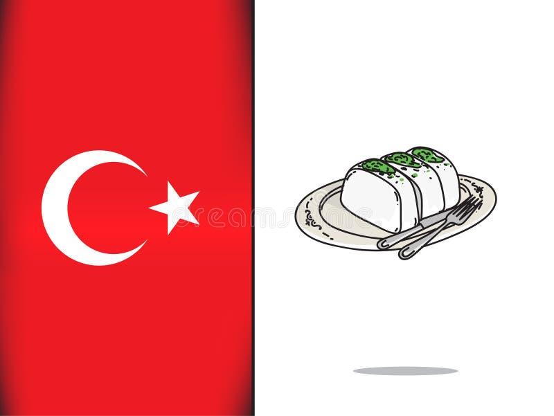 Cultura turca para el icono turco del helado ilustración del vector