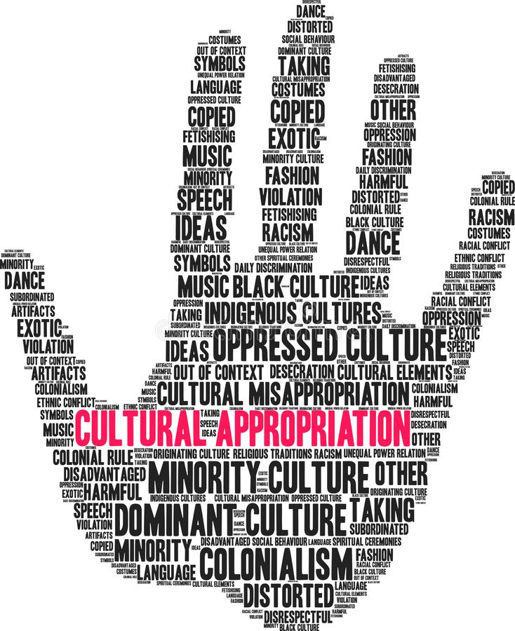 Cultural Appropriation Word Cloud vector illustration