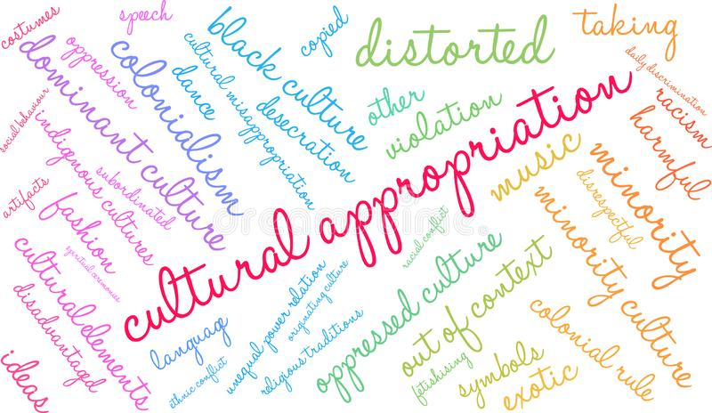 Cultural Appropriation Word Cloud royalty free illustration