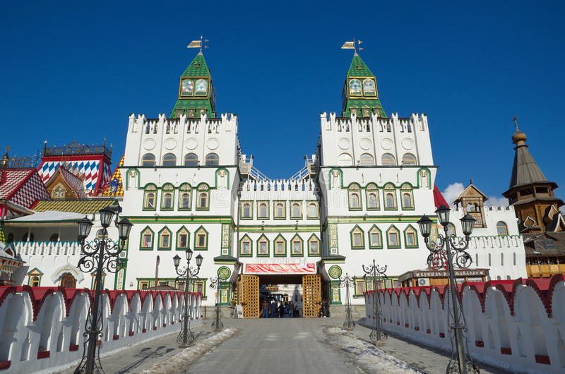 Cultural-entertainment complex Kremlin in Izmailovo, Moscow, Russia stock image