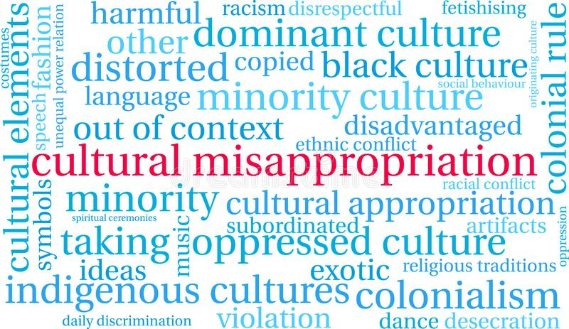 Cultural Misappropriation Word Cloud stock illustration