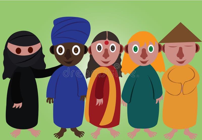 Culturas do mundo 2 ilustração stock