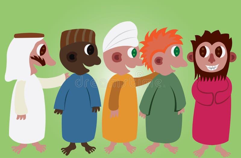 Culturas do mundo 3 ilustração stock