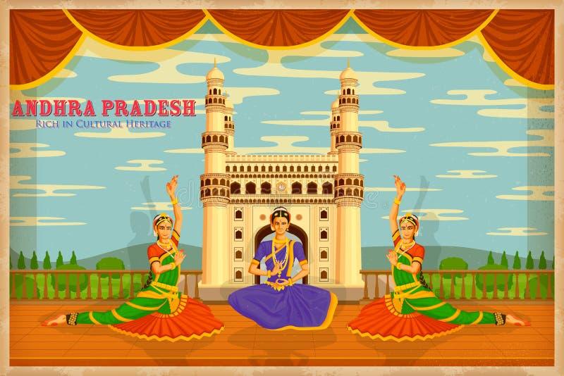 Culture of Andhra Pradesh vector illustration