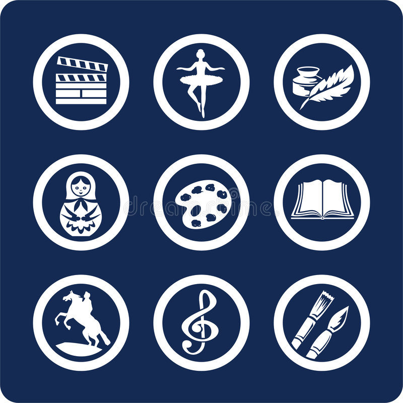 Culture and Art icons (set 12, part 2) royalty free stock image