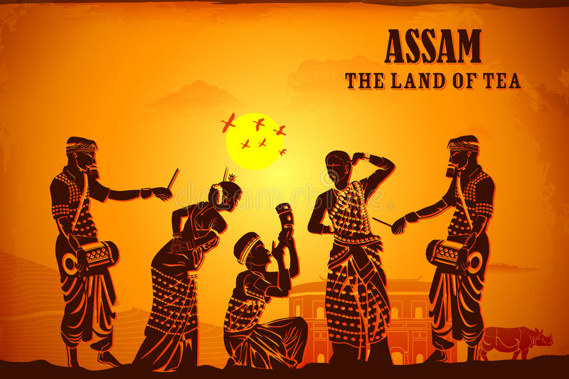 Culture of Assam royalty free illustration