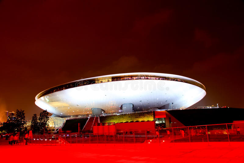 The Culture Center at World Expo in Shanghai stock images