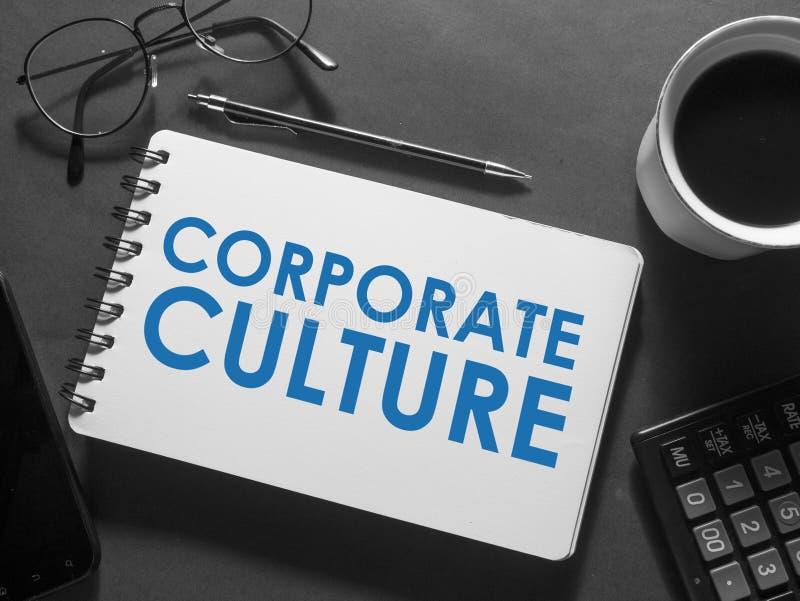 Culture d'entreprise, concept de motivation de citations de mots d'affaires image stock
