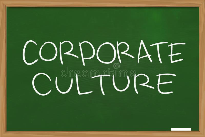 Culture d'entreprise, concept de motivation de citations de mots d'affaires images libres de droits