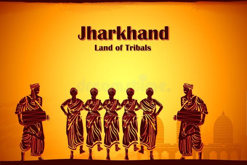 Culture de Jharkhand illustration de vecteur