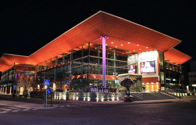 Culture house in Luleå stock photos