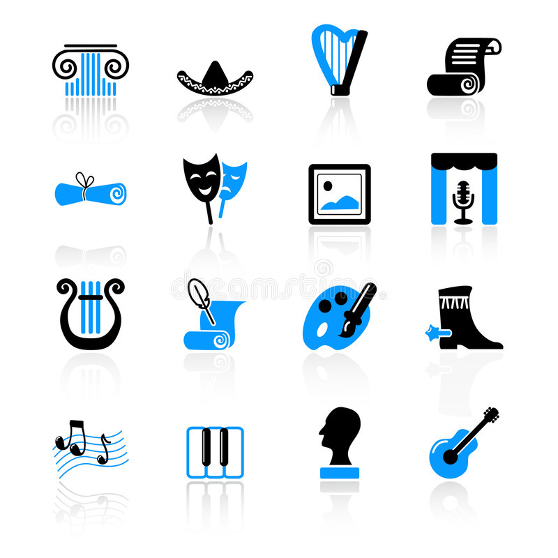 Download Culture icons stock vector. Image of sombrero, archeology - 8690360