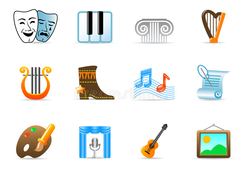 Download Culture icons stock vector. Image of architectural, icon - 8690373