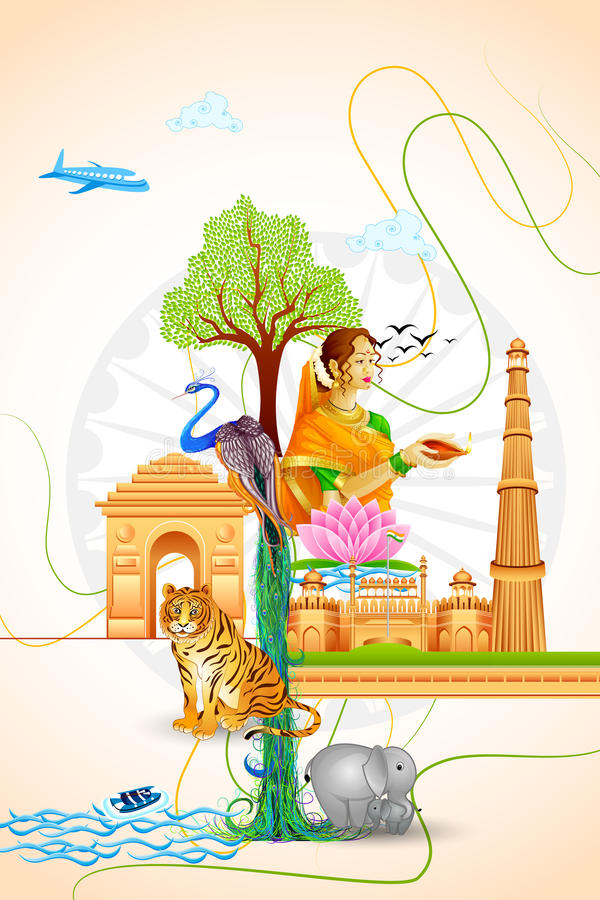 Culture of India vector illustration