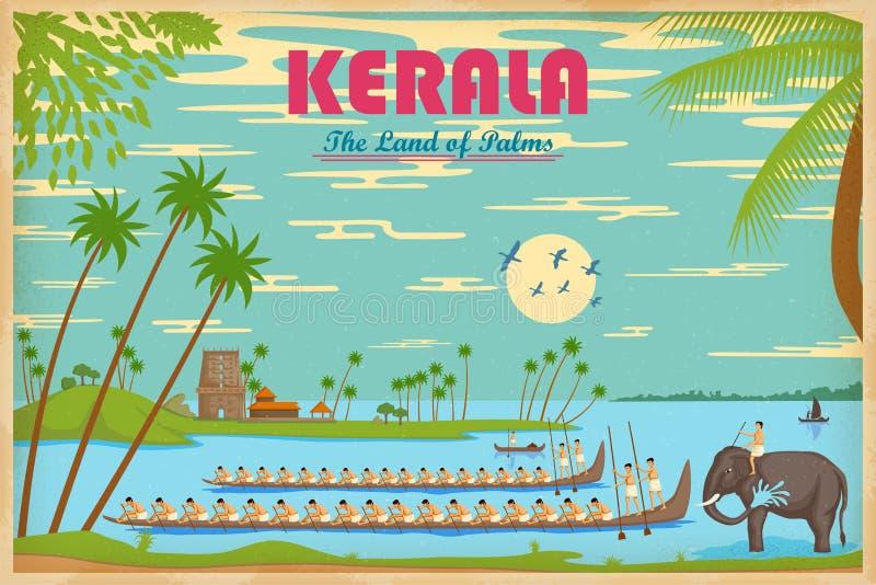 Culture of Kerala vector illustration