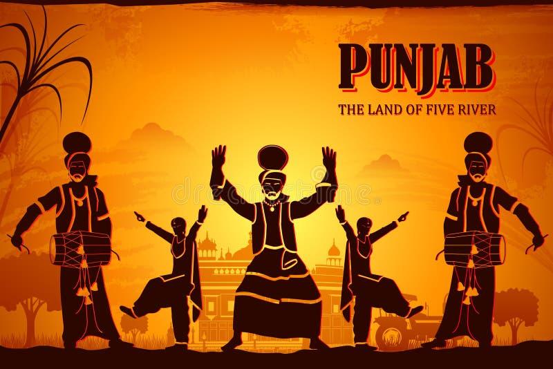 Culture of Punjab stock illustration