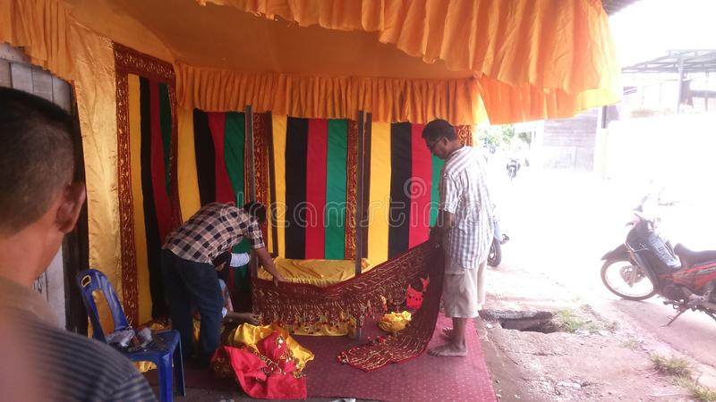 Culture sociale traditionnelle d'Aceh image stock