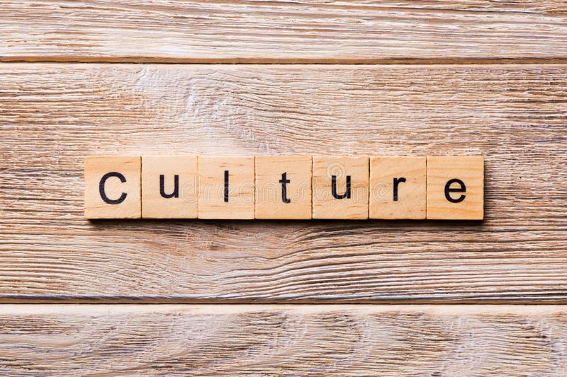 Culture word written on wood block. Culture text on wooden table for your desing, concept.  royalty free stock images