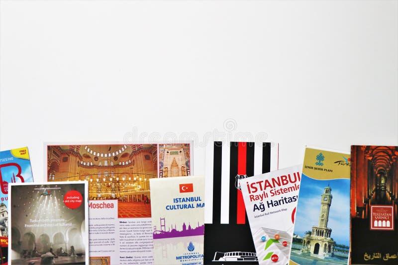 Culturel et brochures de publicité des endroits symboliques de la Turquie photo libre de droits
