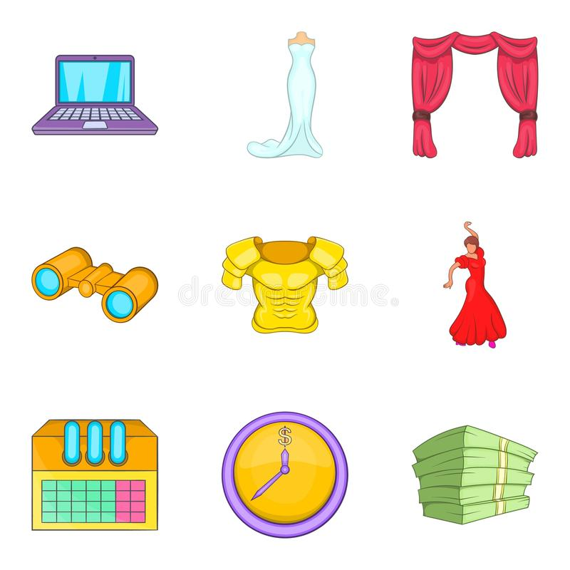 Download Culturele Geplaatste Centrumpictogrammen, Beeldverhaalstijl Vector Illustratie - Illustratie bestaande uit verjaardag, viering: 107708251