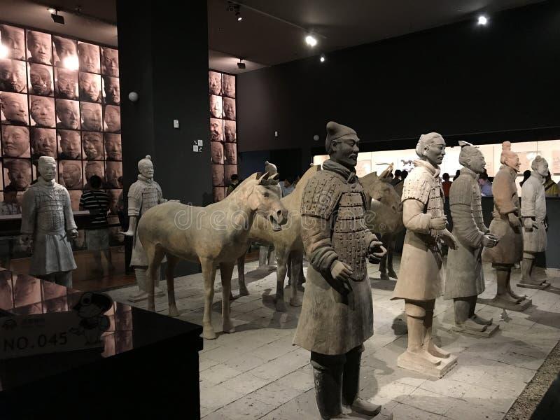 Culturele overblijfselen in het Provinciale de Geschiedenismuseum van Shaanxi royalty-vrije stock foto's