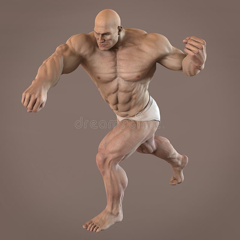 Culturista del hombre del músculo stock de ilustración