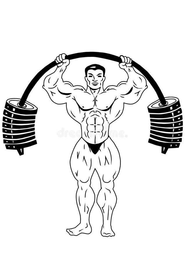 Culturista del músculo stock de ilustración