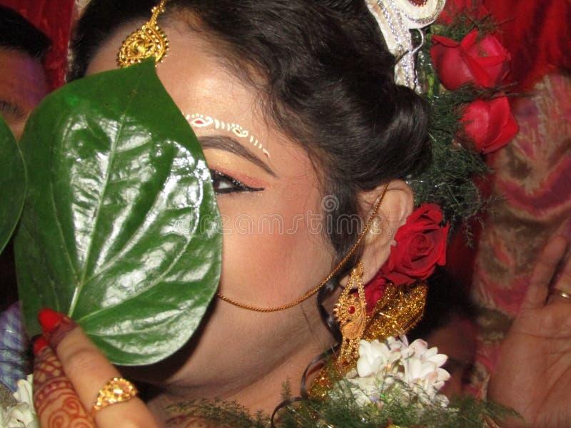 Cultuur van Bengaals huwelijk stock afbeeldingen