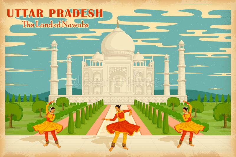 Cultuur van Uttar Pradesh stock illustratie