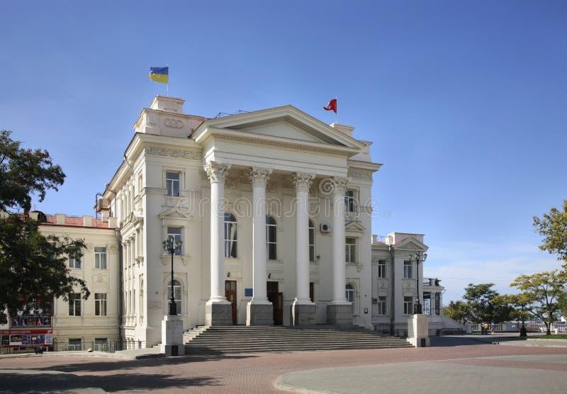 Cultuurpaleis in Sebastopol ukraine royalty-vrije stock afbeeldingen