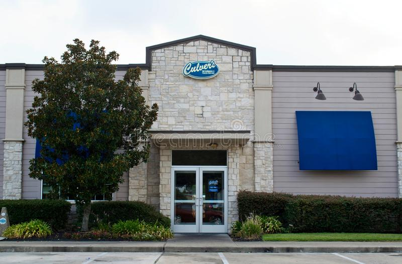 Culver's fast food restaurant in Humble, TX. Houston, Texas/USA 08/14/2019: Culver`s fast food casual dining restaurant location in Humble, TX. The first one royalty free stock images