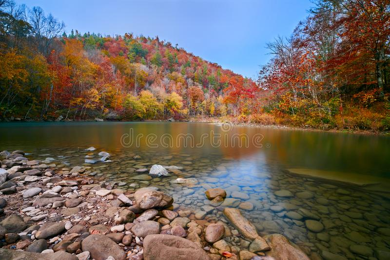 The Cumberland River at Big South Fork National River and Recreation Area, TN royalty free stock images