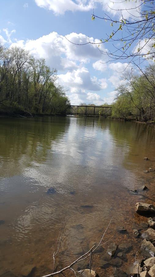 Cumberland River korssmå viker, tn fotografering för bildbyråer
