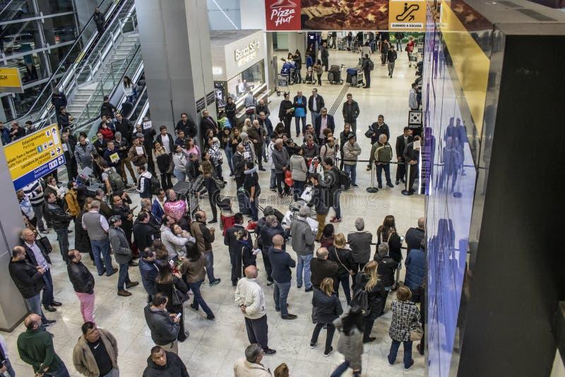 Cumbica internationell flygplats i Brasilien arkivfoton
