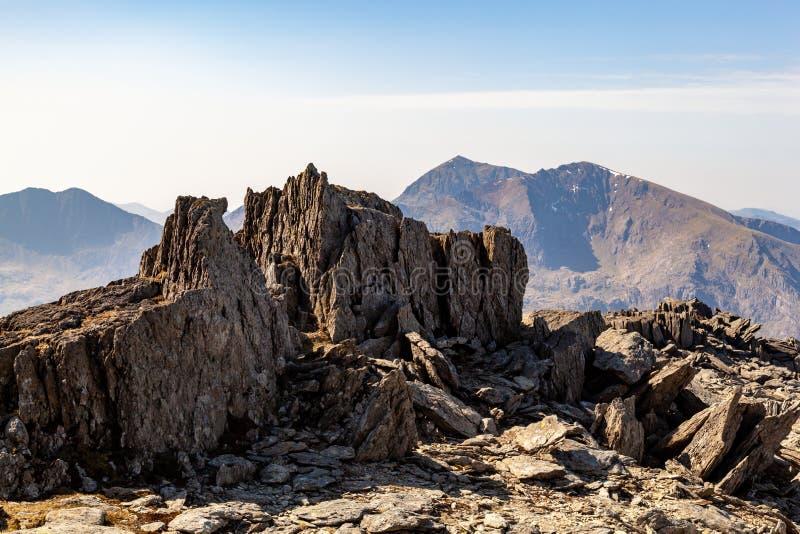 Cumbre de Snowdon, Snowdonia imagen de archivo