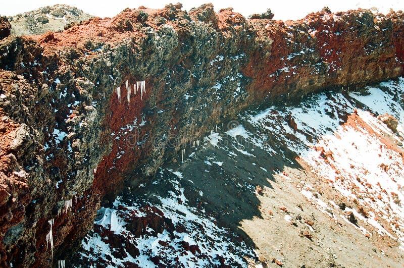 Cumbre del volcán imagen de archivo libre de regalías